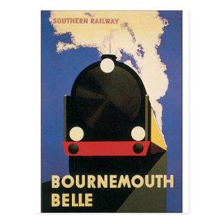 Cartão Postal Poster das viagens vintage do trem do Belle de
