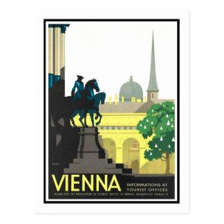Cartão Postal Poster das viagens vintage, Viena