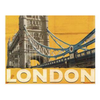 Cartão Postal Poster de Londres do vintage