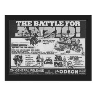 """Cartão Postal Poster do cinema para o filme, """"batalha para Anzio"""