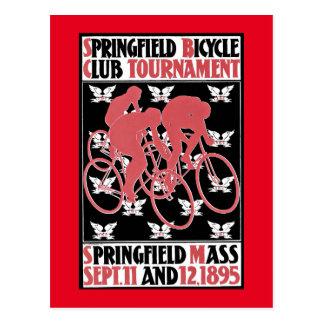 Cartão Postal Poster vintage da raça de bicicleta