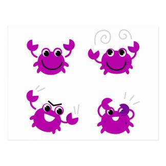 Cartão Postal Pouco amor crabs o roxo