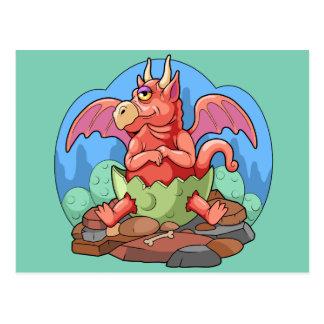 Cartão Postal pouco dragão
