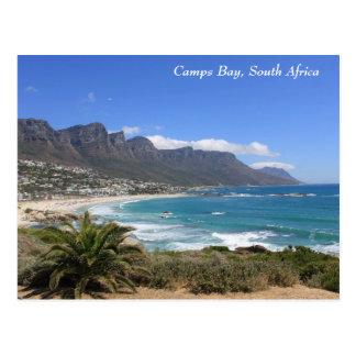 Cartão Postal Praia da baía dos acampamentos, África do Sul