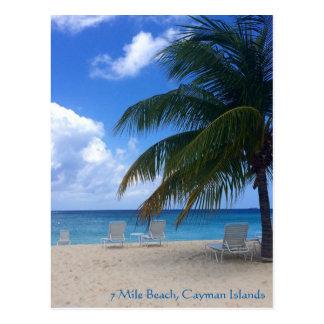 Cartão Postal Praia de 7 milhas, Cayman Islands