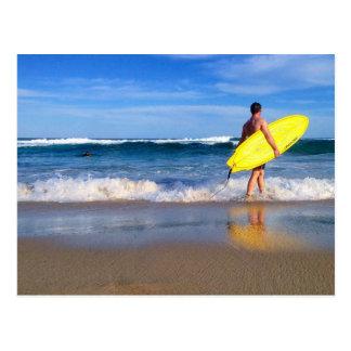 Cartão Postal Praia de Austrália Bondi da vida do surf