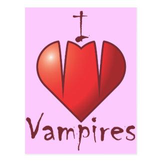 Cartão Postal Presas do coração: Eu amo vampiros