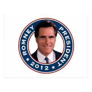 Cartão Postal Presidente 2012 de Mitt Romney