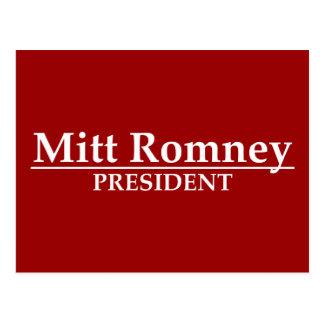Cartão Postal Presidente de Mitt Romney