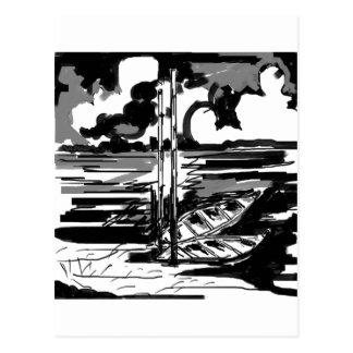Cartão Postal Preto & branco