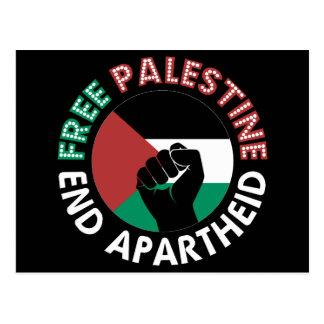 Cartão Postal Preto livre do punho da bandeira do Apartheid do