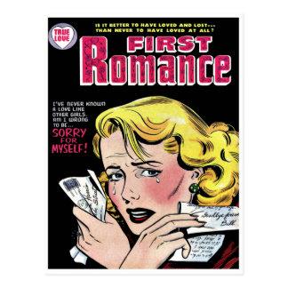 Cartão Postal Primeiro amor romântico que quebra acima