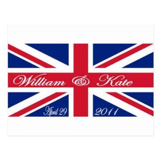 Cartão Postal Príncipe William e Kate