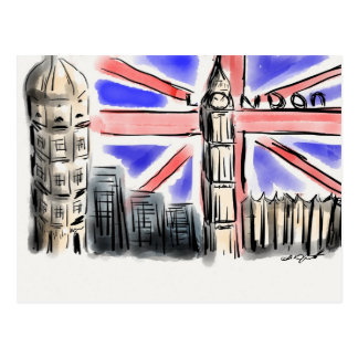 Cartão Postal Produtos de Londres