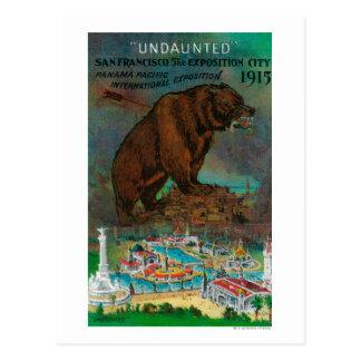 Cartão Postal Propaganda internacional pacífica da expo de