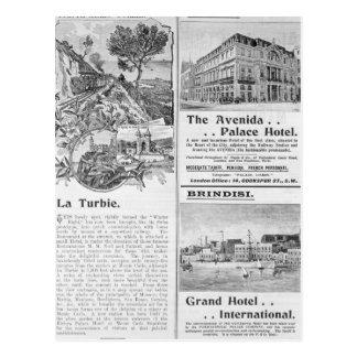 Cartão Postal Propagandas para o restaurante de Turbie do La,