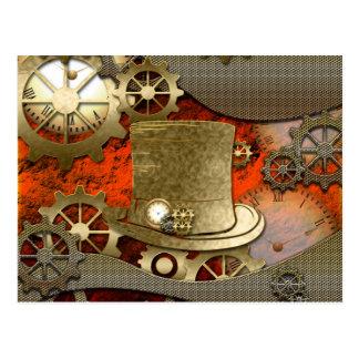 Cartão Postal Pulsos de disparo e engrenagens do chapéu da bruxa