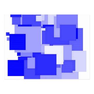 Cartão Postal Quadrado do azul de Threadless