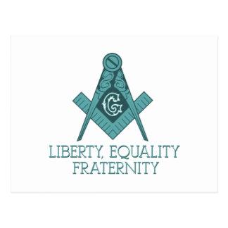 Cartão Postal Quadrado do Freemason & igualdade Frater da