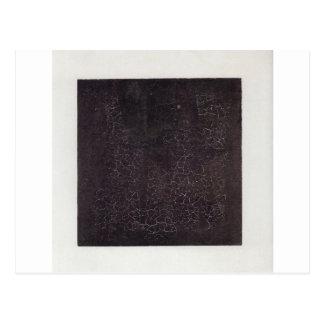 Cartão Postal Quadrado preto por Kazimir Malevich