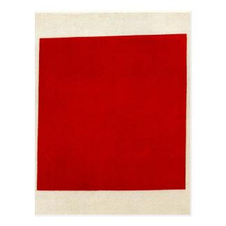 Cartão Postal Quadrado vermelho por Kazimir Malevich