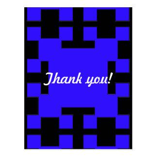 Cartão Postal Quadrados azuis e quadrados