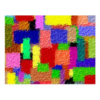 Cartão Postal Quadrados coloridos