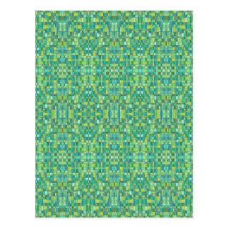 Cartão Postal Quadrados verdes