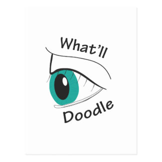 Cartão Postal Que eu Doodle?