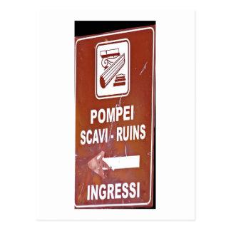 Cartão Postal Que maneira é Pompeii?
