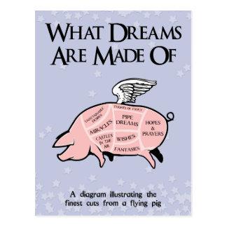 Cartão Postal Que sonhos são feitos