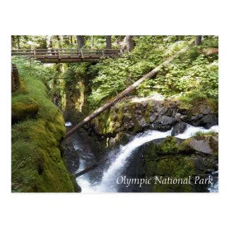 Cartão Postal Quedas do solenóide Duc, viagem olímpico do parque