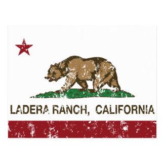 Cartão Postal Rancho de Ladera da bandeira do estado de