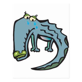 Cartão Postal Rasgos de crocodilo