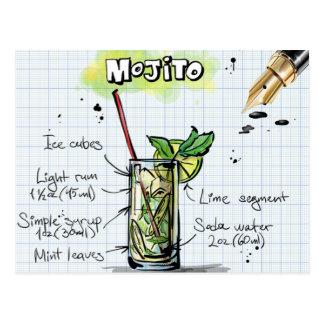 Cartão Postal Receita de Mojito - presente do cocktail