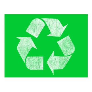Cartão Postal Reciclar - vai o verde
