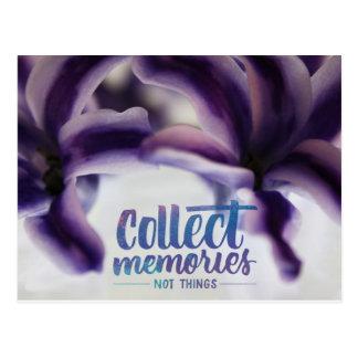 Cartão Postal Recolha memórias