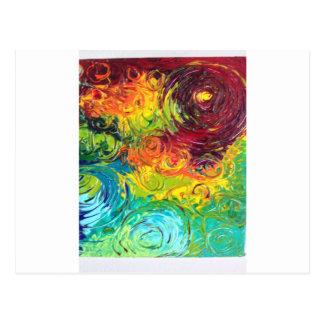 Cartão Postal Redemoinhos coloridos
