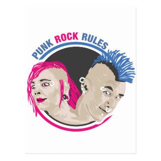 Cartão Postal Regras do punk rock