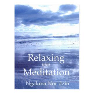 Cartão Postal Relaxar na publicidade 01 da meditação [cartão]