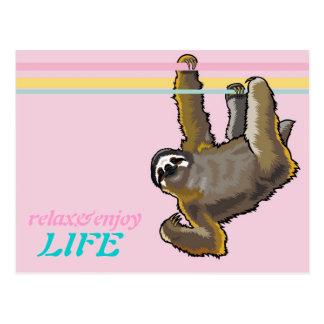 Cartão Postal relaxe e aprecie a vida