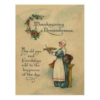 Cartão Postal Relembrança da acção de graças