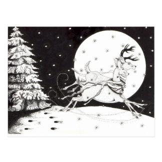 Cartão Postal Rena do feriado