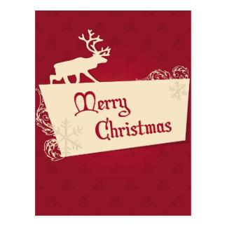 Cartão Postal Rena do Natal dos desejos dos feriados