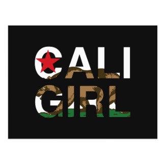 Cartão Postal Representante da menina de Cali claro