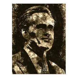 Cartão Postal Retrato da arte do Grunge de Mitt Romney