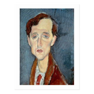 Cartão Postal Retrato de Franz Hellens, 1919 (óleo em canvas)