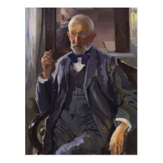 Cartão Postal Retrato de Konstantin Somov- de A. Somov