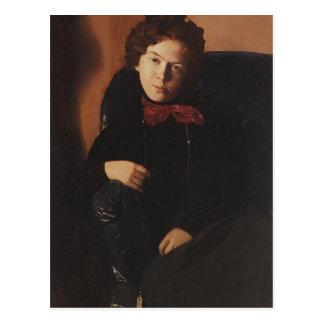 Cartão Postal Retrato de Konstantin Somov- de Anna Lebedeva
