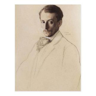 Cartão Postal Retrato de Konstantin Somov- de Eugine Lanceray